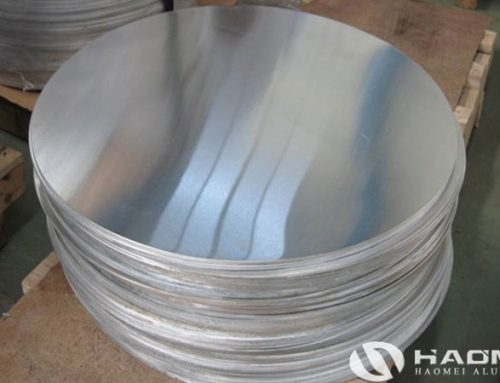 Aluminum circular sheet for lamp cover